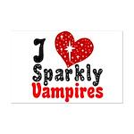 I Love Sparkly Vampires Mini Poster Print