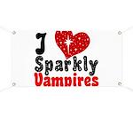 I Love Sparkly Vampires Banner
