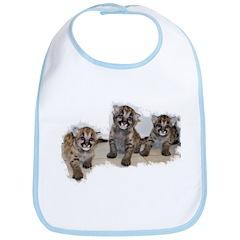 Mountain Lion Cubs Bib