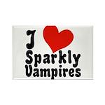 I Love Sparkly Vampires Rectangle Magnet (10 pack)