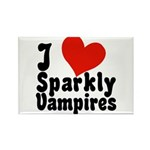 I Love Sparkly Vampires Rectangle Magnet (100 pack