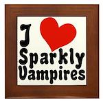 I Love Sparkly Vampires Framed Tile