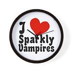 I Love Sparkly Vampires Wall Clock