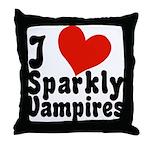 I Love Sparkly Vampires Throw Pillow