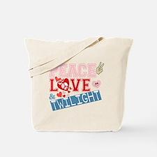 Peace Love and Twilight Tote Bag