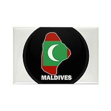 Flag Map of maldives Rectangle Magnet
