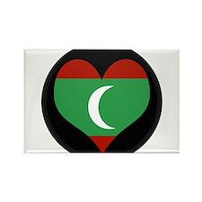 I love maldives Flag Rectangle Magnet