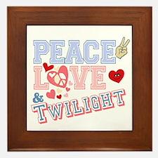 Peace Love Twilight Framed Tile