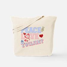 Peace Love Twilight Tote Bag