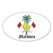 Maldivian Coat of Arms Seal Oval Decal