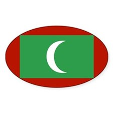 maldives Flag Oval Decal