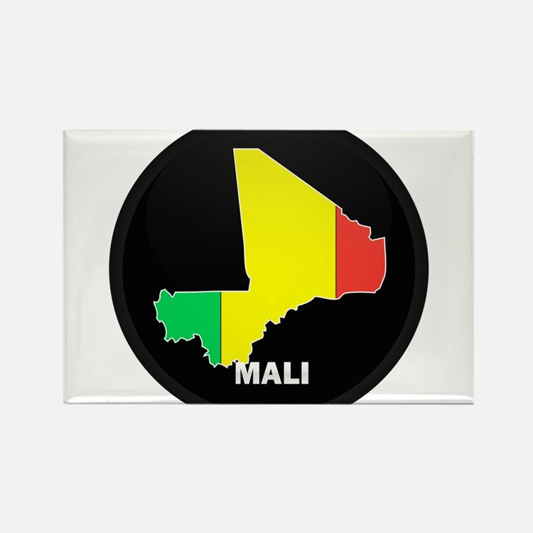 Flag Map of mali Rectangle Magnet