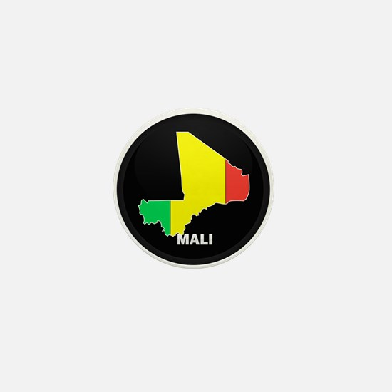 Flag Map of mali Mini Button