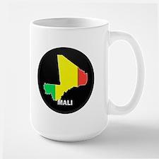 Flag Map of mali Large Mug