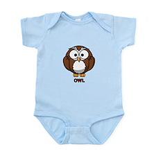 Cartoon Owl Infant Bodysuit
