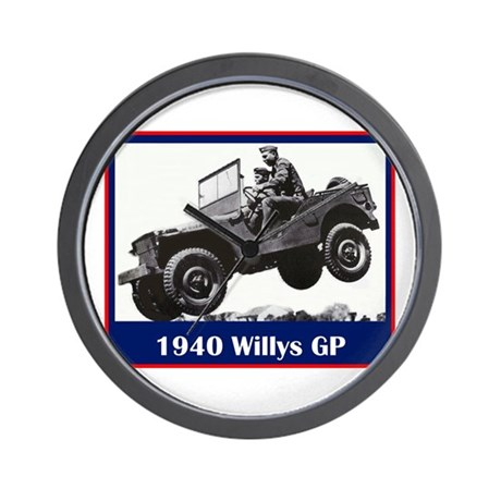 """1940 Willys GP"" Wall Clock"