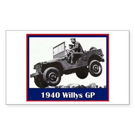 """1940 Willys GP"" Rectangle Sticker"