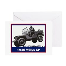 """1940 Willys GP"" Greeting Card"