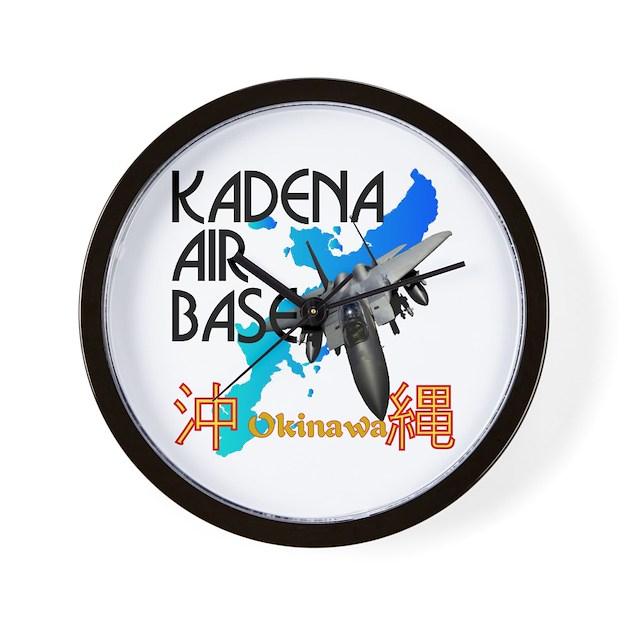 Kadena Decorative Pillow : Kadena AB New Design Wall Clock by mdg_store