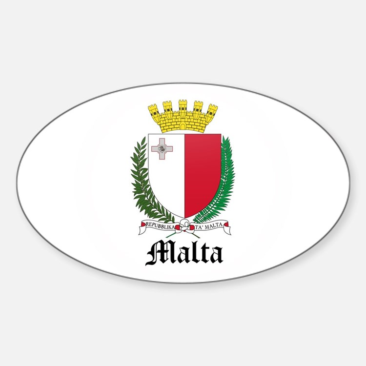 Maltese Coat of Arms Seal Oval Decal