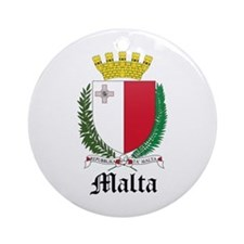 Maltese Coat of Arms Seal Ornament (Round)