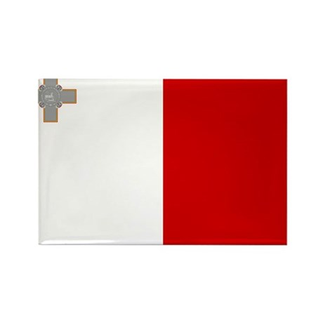 Malta Flag Rectangle Magnet