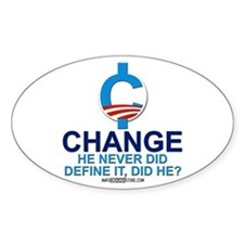 """Define """"Change"""" Oval Decal"""