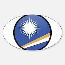 MARSHALL ISLANDS Oval Decal