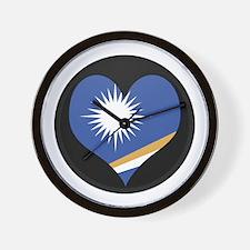 I love MARSHALL ISLANDS Flag Wall Clock