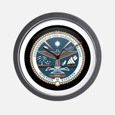 Marshallese Coat of Arms Seal Wall Clock