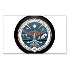 Marshallese Coat of Arms Seal Rectangle Decal
