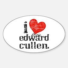 I Heart Edward Cullen Oval Decal