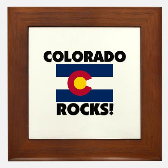 Colorado Rocks Framed Tile