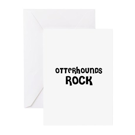 OTTERHOUNDS ROCK Greeting Cards (Pk of 10)