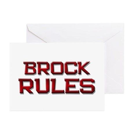 brock rules Greeting Cards (Pk of 20)
