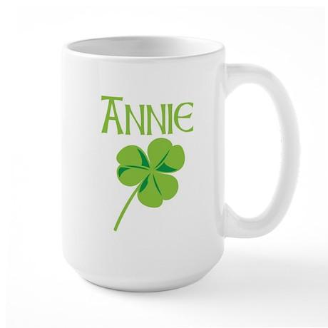 Annie shamrock Large Mug