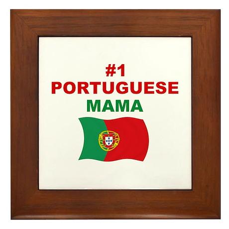 #1 Portuguese Mama Framed Tile