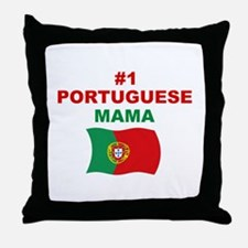 #1 Portuguese Mama Throw Pillow