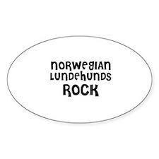 NORWEGIAN LUNDEHUNDS ROCK Oval Decal