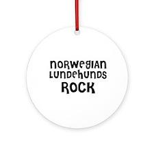 NORWEGIAN LUNDEHUNDS ROCK Ornament (Round)