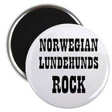 """NORWEGIAN LUNDEHUNDS ROCK 2.25"""" Magnet (10 pack)"""