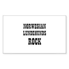 NORWEGIAN LUNDEHUNDS ROCK Rectangle Decal
