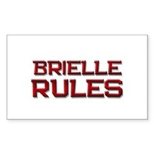 brielle rules Rectangle Decal