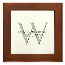 Thank You Mr. President Framed Tile