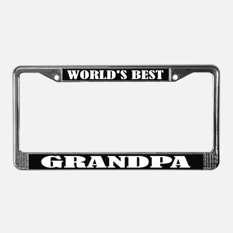World's Best Grandpa License Frame