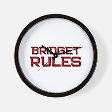 bridget rules Wall Clock