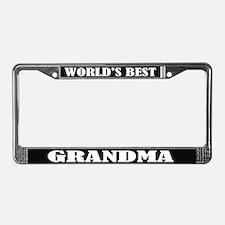 World's Best Grandma License Plate Frame
