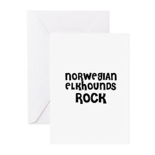 NORWEGIAN ELKHOUNDS ROCK Greeting Cards (Package o