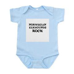 NORWEGIAN ELKHOUNDS ROCK Infant Creeper