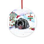 Inky's Rabbit Winter Ornament (Round)